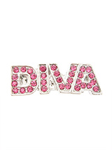 ''Diva'' Swarovski Hair Clip / Dog Barrette (Pink Crystals) - Is your girl a Diva, then let everyone know so that she can get the respect she deserves. Our Swarovski ''Diva'' Dog hair clip will tell the whole world to move out of the way and let her pass. She is a Diva after all!