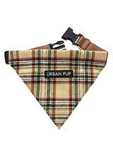 Brown Tartan Bandana - Our Brown Checked Tartan bandana is a traditional Scottish Highland design which is stylish, classy and never goes out of fashion. It is lightweight and incredibly strong. The collar has been finished with chrome detailing including the eyelets and tip of the collar. A matching  harness and collar a...