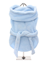 Blue Plush & Fluffy Terry Bathrobe - Our new Super Soft and Plush and Fluffy Terry Bathrobes are made from Plush Micro-fibre, it is so soft you will not want to put it down. Great for wrapping up in after bath time to relax and dry out. It has a matching towelling belt which is attached so as not to fall off and this great for pulling...