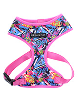 Pink Graffiti Harness - Our Pink Graffiti Harness is a street art inspired design. It is lightweight and incredibly strong. designed by Urban Pup to provide the ultimate in comfort and safety. It features a breathable material for maximum air circulation that helps prevent your dog overheating and is held in place by a sec...