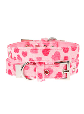 Pink Hearts Fabric Collar