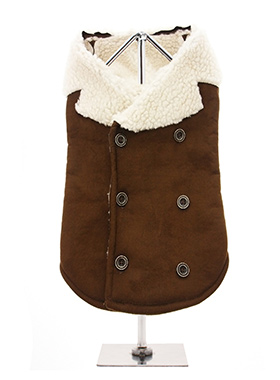 Brown Shearling Aviator Jacket