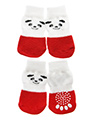 Red / White Panda Pet Socks